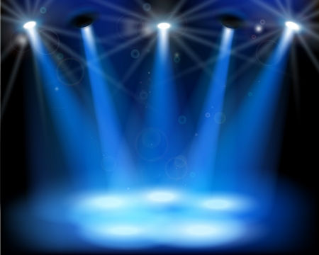 Luces del escenario. Ilustración del vector. Ilustración de vector