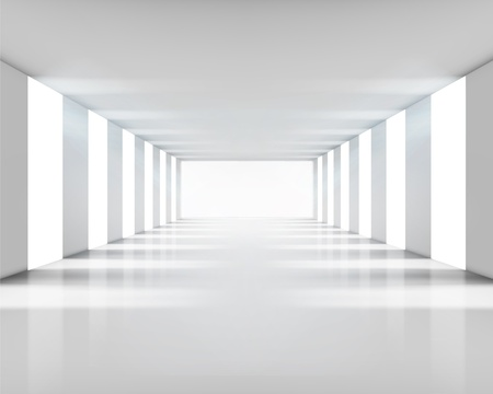 hall: Empty white interior. Vector illustration.
