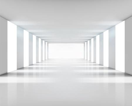 exposition art: Vide int�rieur blanc. Vector illustration.