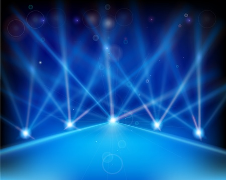 laser show: Laser effect of Stage. Vector illustration.