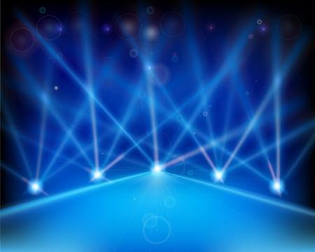 Laser-Effekt der Bühne. Vektor-Illustration. Vektorgrafik