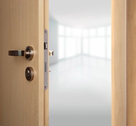 door handles: Home with open a doors.