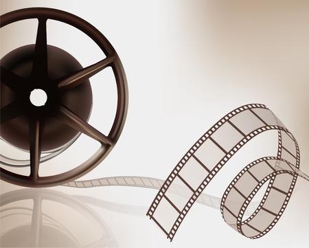 Cine de carrete. Ilustración del vector.