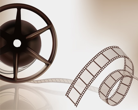 movie projector: Film reel. Vector illustration. Illustration