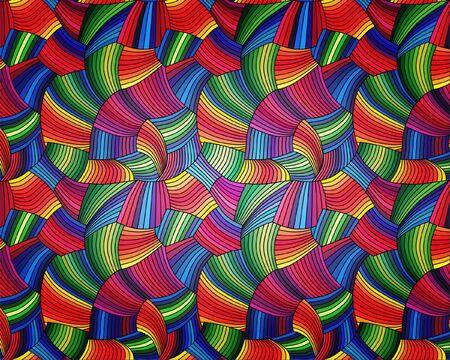 basic shape: Rainbow pattern. Vector illustration.