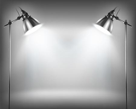spotlights: Pared vac�a de exposici�n