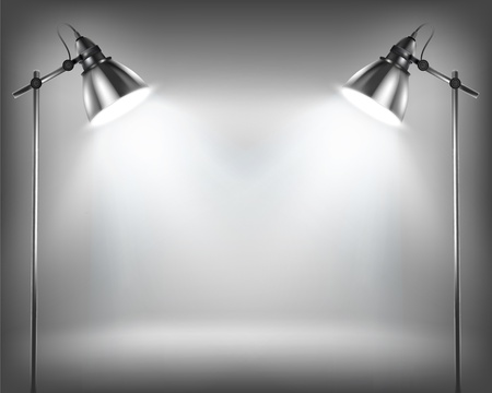 spotlight lamp: Parete vuota per la mostra