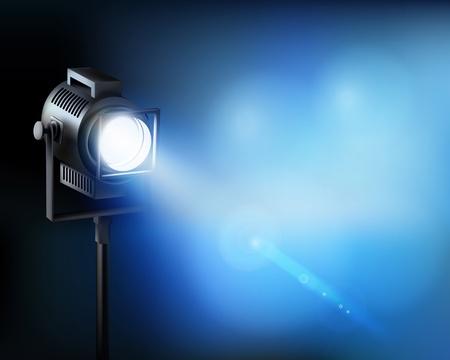blue spotlight: Spotlight. illustration.