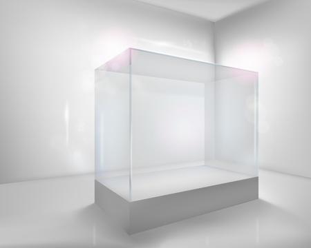 Display case. illustration.