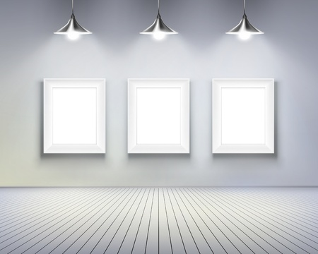 Chambre avec photos. illustration. Vecteurs