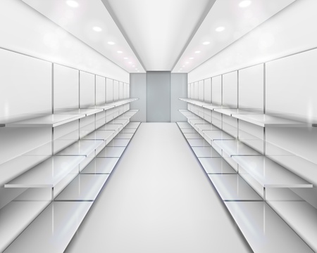 estanterias: Los estantes. ilustraci�n.