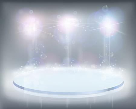 White lights. illustration.