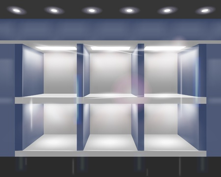Shop window.illustration. Ilustrace