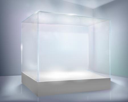 Glas-geval. Vector illustratie. Vector Illustratie