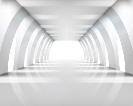corridoi: Architettura delle costruzioni. Illustrazione vettoriale.