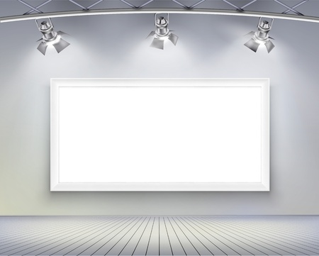 Wall with picture   Vector illustration  Vector