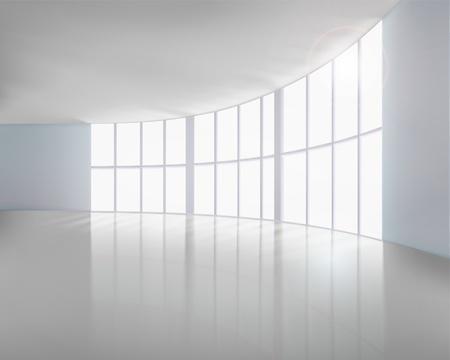 Lege witte interieur Vector illustratie