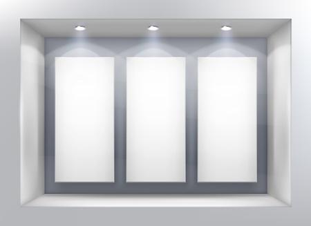 finestra: Vetrina vettore Vettoriali