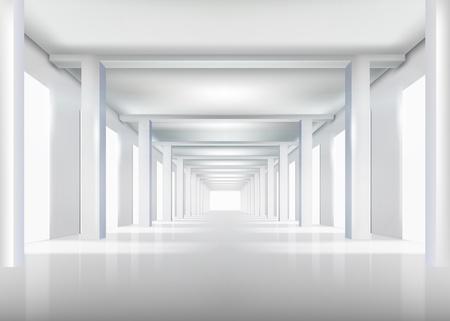 corridoi: Bianco illustrazione interni Vettoriali