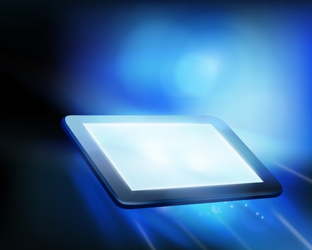 Tablet illustration. Vector