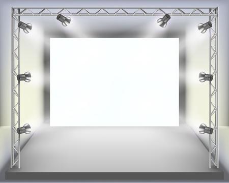 spotlight lamp: Mostra illustrazione Vettoriali