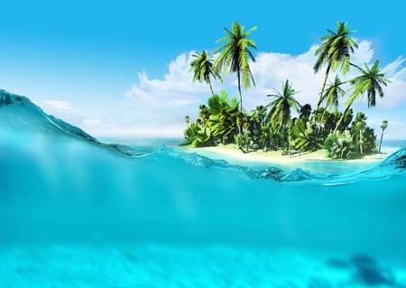 Tropikalna wyspa Zdjęcie Seryjne