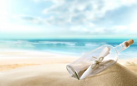 fles met een bericht