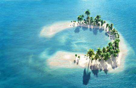 blue lagoon: Atollo Archivio Fotografico