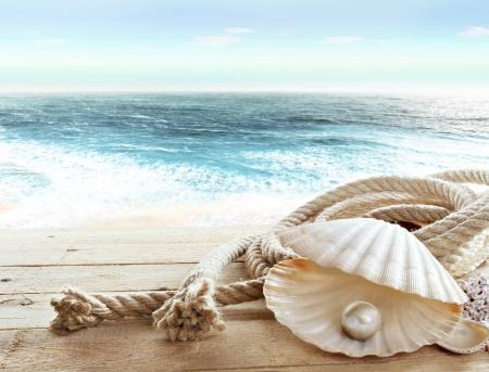 mare agitato: Pearl a bordo di una nave Archivio Fotografico