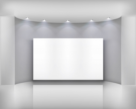 projection: White frame   Vector illustration