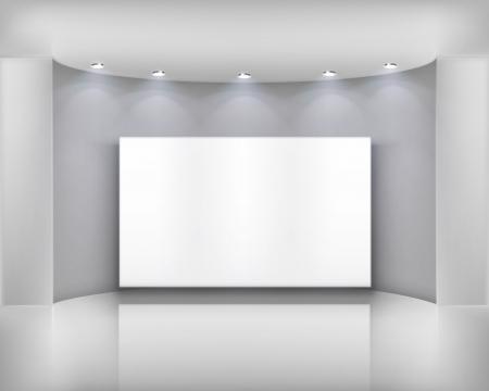 beursvloer: Wit frame Vector illustratie