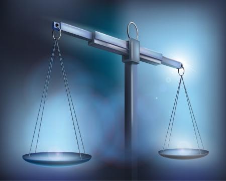 balanza en equilibrio: Escala. Vector ilustración. Vectores