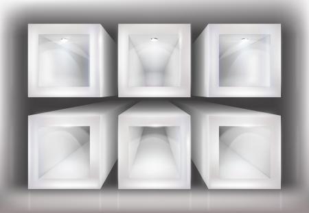 show window: Shop window. Vector illustration. Illustration