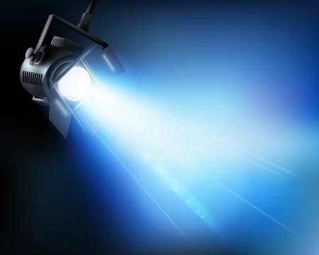 spotlights: La luz de un show. Vector ilustraci�n.