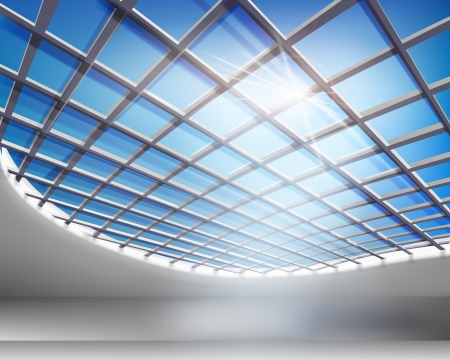 ceiling design: Glass hall. Vector ilustraci�n.