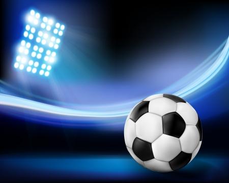 Fútbol en el estadio. Vector ilustración.