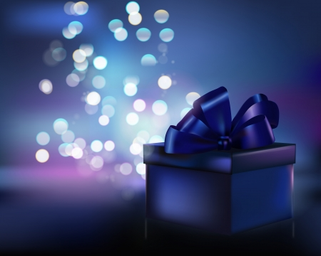 romance image: Gift box. Vector illustration.