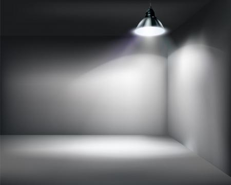 iluminado: Tienda vacía. Vectores