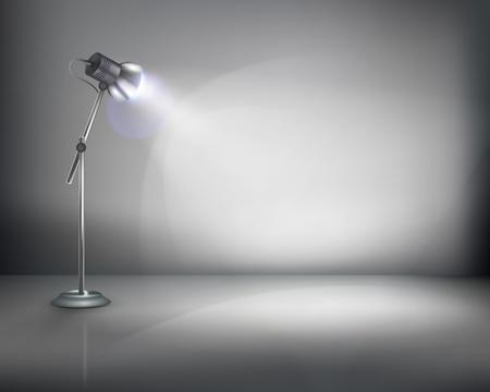 iluminado: De pie de la lámpara. ilustración. Vectores