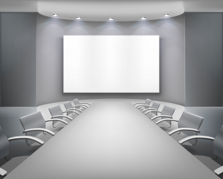 board room: Meeting room.  illustration.