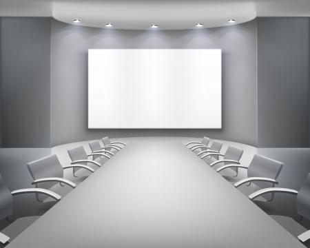 sala de reuniones: Sala de reuniones. ilustración. Vectores