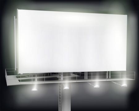 affichage publicitaire: Grand panneau d'affichage. illustration. Illustration