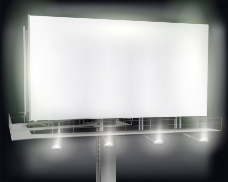 show: Large billboard.  illustration.