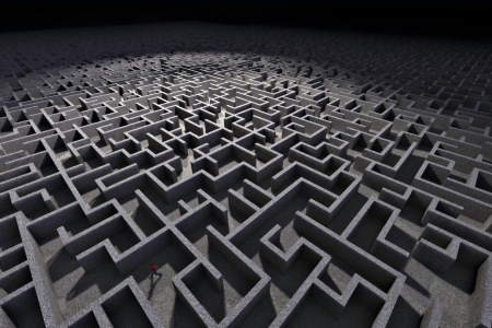 Man in labyrinth Stock Photo - 19104808