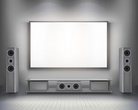 home theatre: Home cinema   Vector illustration