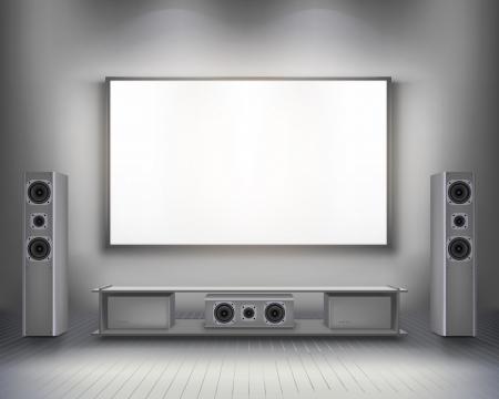 show home: Home cinema   Vector illustration