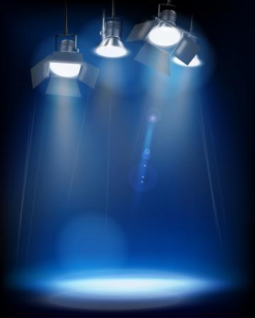 Studio Lights  Vector illustration