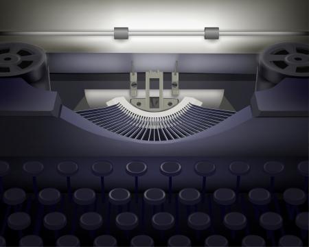 m�quina de escribir vieja: Typewriter ilustraci�n vectorial Vectores