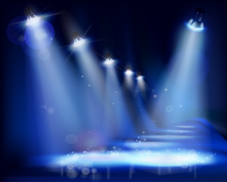 Illuminated stage  illustration  Vector