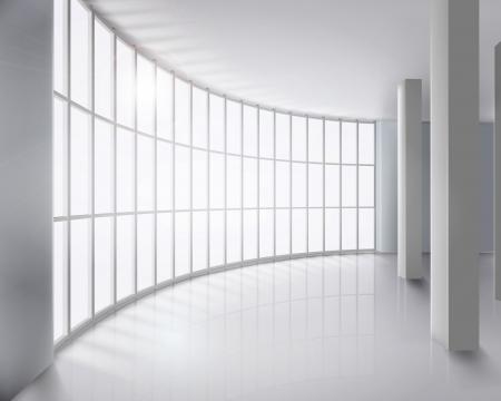 ceiling design: Pared de cristal ilustraci�n